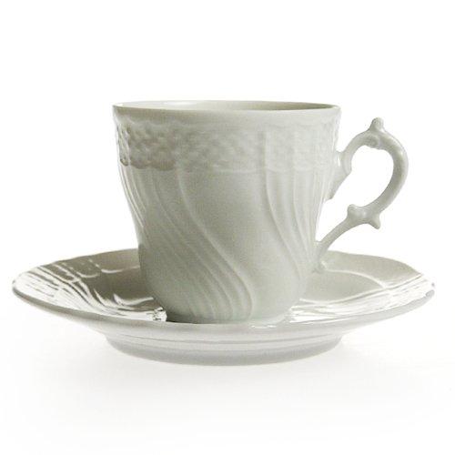 リチャード・ジノリ(Richard Ginori)ベッキオホワイト コーヒーカップ&ソーサー[L][並行輸入品]