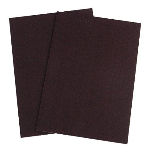 【大容量 2枚セット】 フェルトシート シール 式 椅子 家具 の 脚 カバー 床 フローリング 畳 の 傷防止 30×21cm 厚さ3mm (ブラウン×2枚)