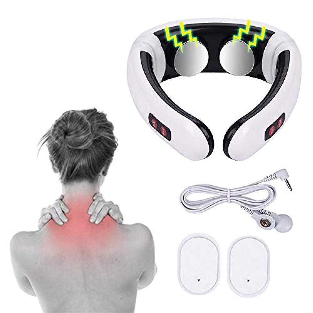 宇宙の性格砲兵1 PC Electric Pulse Back and Neck Massager Far Infrared Pain Relief Tool Health Care Relaxation Multifunctional...