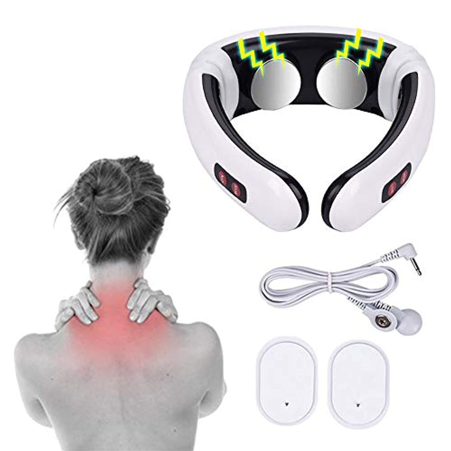 固体導出びっくり1 PC Electric Pulse Back and Neck Massager Far Infrared Pain Relief Tool Health Care Relaxation Multifunctional...