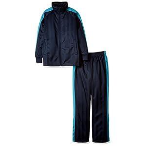 (エーディーワン)A.D.ONE(エーディーワン) ジュニアジャージ上下セット ジャージセットアップ ボーイズ ガールズ スポーツウェア トレーニング ジャケット パンツ ADJ-701 ネイビー/サックス 140cm