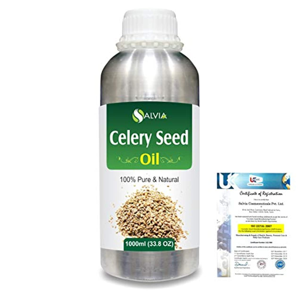 Celery Seed (Apium Graveolens) 100% Pure Natural Carrier Oil 1000ml/33.8fl.oz.