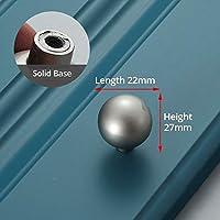 亜鉛合金ゴールド内閣は、パールグレイのソリッド引き出しノブキッチン食器棚の扉迫る家具ハンドルキャビネットハードウェアを処理します (Color : Pearl Gray 6008)