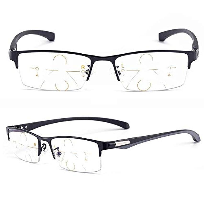 ハーネススラダムカンガルー老眼鏡、変色老眼鏡、調光機能付き累進老眼鏡、調光、ブルーライトカット、有害な光の防止、運転/歩行/釣り/読書に適しています (ブラック,150°)