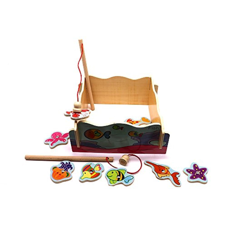 幼児やお子様向けのマグネットの釣りゲーム - 折りたためる、教育的で完璧なアクティビティで、お子様が持ち運べるおもちゃです(飛行機、車、ホテル、ご自宅でご利用可)。