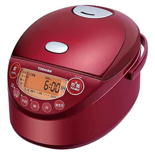 IHジャー炊飯器(3.5合炊き) グランレッド 備長炭鍛造かまど釜 TOSHIBA RC-6XM-R