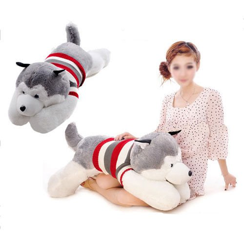 新しいぬいぐるみぬいぐるみシベリアンハスキー犬のおもちゃ人形バレンタインの日誕生日プレゼント 70 cm - STI#b4err4gr4145e 【サンプル価格 ( 税別 ) 】
