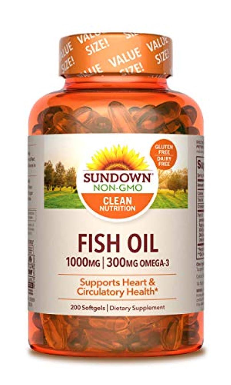 棚隠すグリース海外直送品Sundown Naturals Fish Oil, 1000 mg, 200 caps by Sundown Naturals