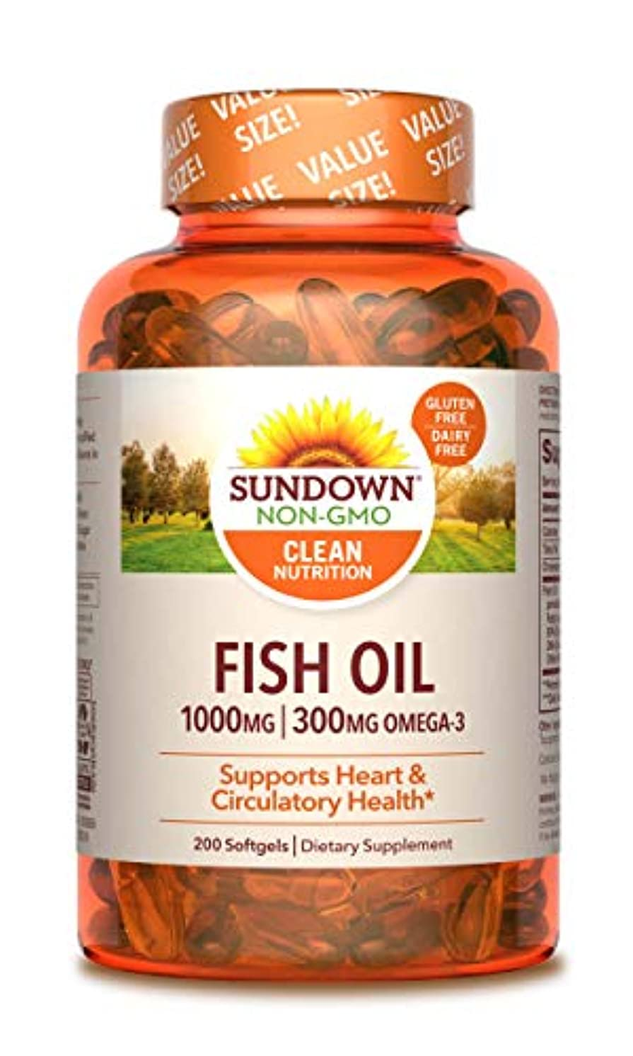 エアコン受け継ぐ資格情報海外直送品Sundown Naturals Fish Oil, 1000 mg, 200 caps by Sundown Naturals
