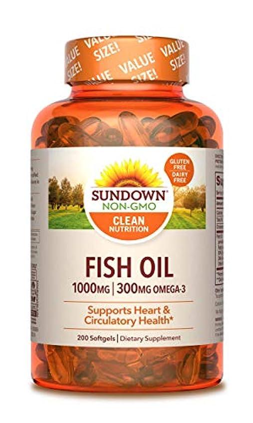 好意ベスト書き出す海外直送品Sundown Naturals Fish Oil, 1000 mg, 200 caps by Sundown Naturals