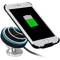 Techvilla ワイアレス充電器航空機合金ボディケースマルチプロテクションQIクイックチャージャーワイヤチーゼーUSBケース付属品取扱説明書保証書付きiPhone 8 / iPhone 8 Plus / iPhone X / Galaxy S8 / S8 Plus / S7 / S7 Edge / Nexus / LG G6 / Xperia He Qi仕様対応