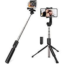 Selfie Stick for Cameras, Gopro, iPhone, Android - BlitzWolf 5 in 1 81.5 cm Super Long Extendable Bluetooth Selfie Stick Tripod with Removable Remote (Extended Version)