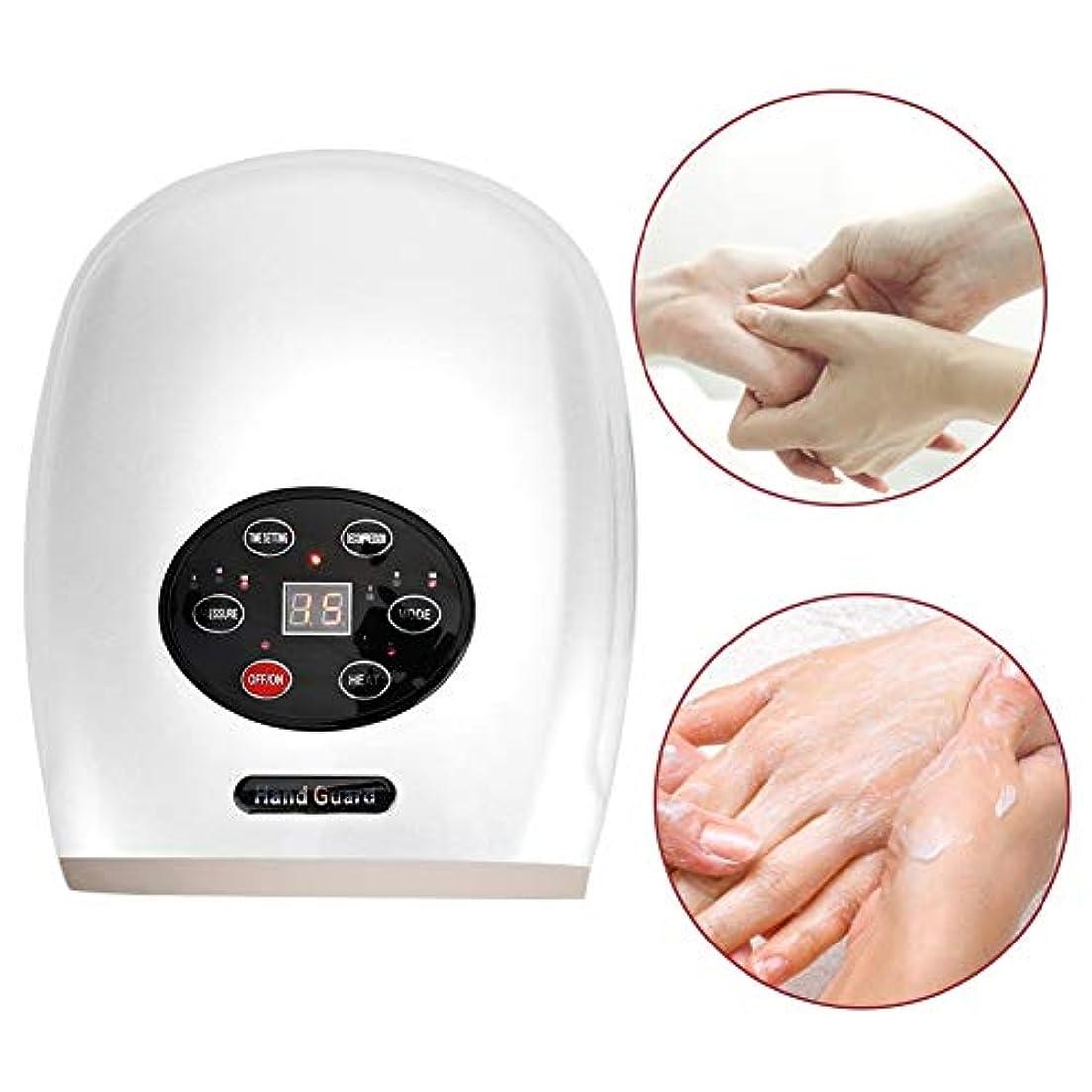 しなければならない昼食ライム空気圧のハンドマッサージャー、USBの電気指の心配は修理のための熱圧縮の機械を緩めます荒い手の皮を柔らかくします(白)