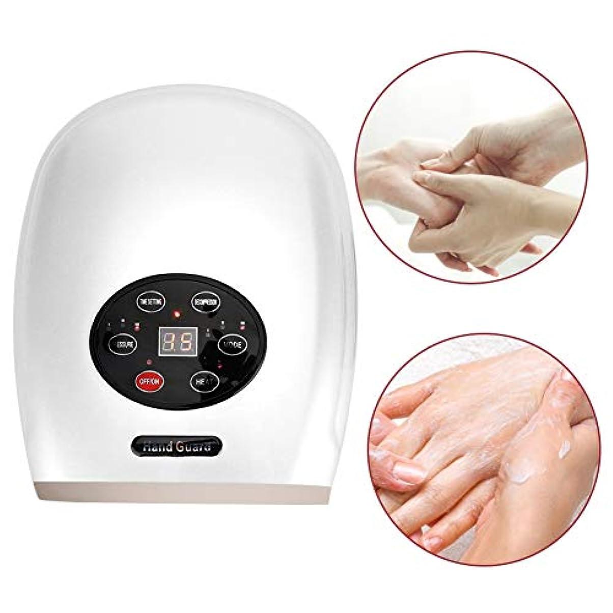 ハウジングリゾート独占空気圧のハンドマッサージャー、USBの電気指の心配は修理のための熱圧縮の機械を緩めます荒い手の皮を柔らかくします(白)