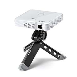 サンワダイレクト HDMI モバイルプロジェクター 小型 バッテリー内蔵 最大100ルーメン ホワイト 400-PRJ014W