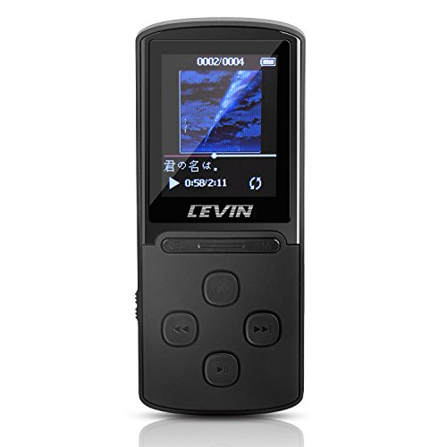 LEVIN MP3プレーヤー 音楽プレイヤー 最大50時間連続再生 多機能 FMラジオ 動画 ボイスレコーダー録音機能 内蔵メモリ8GB マイクロSDカード最大64GB対応 デジタルオーディオプレーヤー ミュージックプレイヤー ブラック