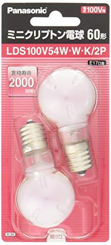 パナソニック ミニクリプトン電球ホワイト 60W 1個