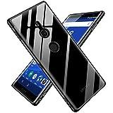 Sony Xperia XZ2 ケース クリア TPU シリコン 透明 スリム 耐衝撃 薄型 軽量 擦り傷防止 滑り止め メッキ加工 ワイヤレス充電対応 人気 SO-03K SOV37 702SO 保護カバー ブラック