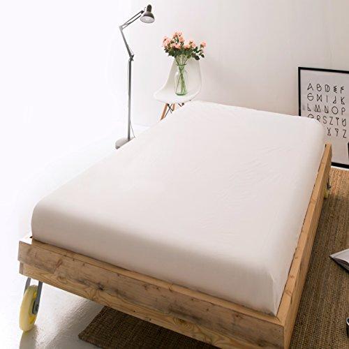 ボックスシーツ シングル 綿100% ベッドシーツ 200本ブロード マットレスカバー 防ダニ 抗菌 BOXシーツ ホワイト
