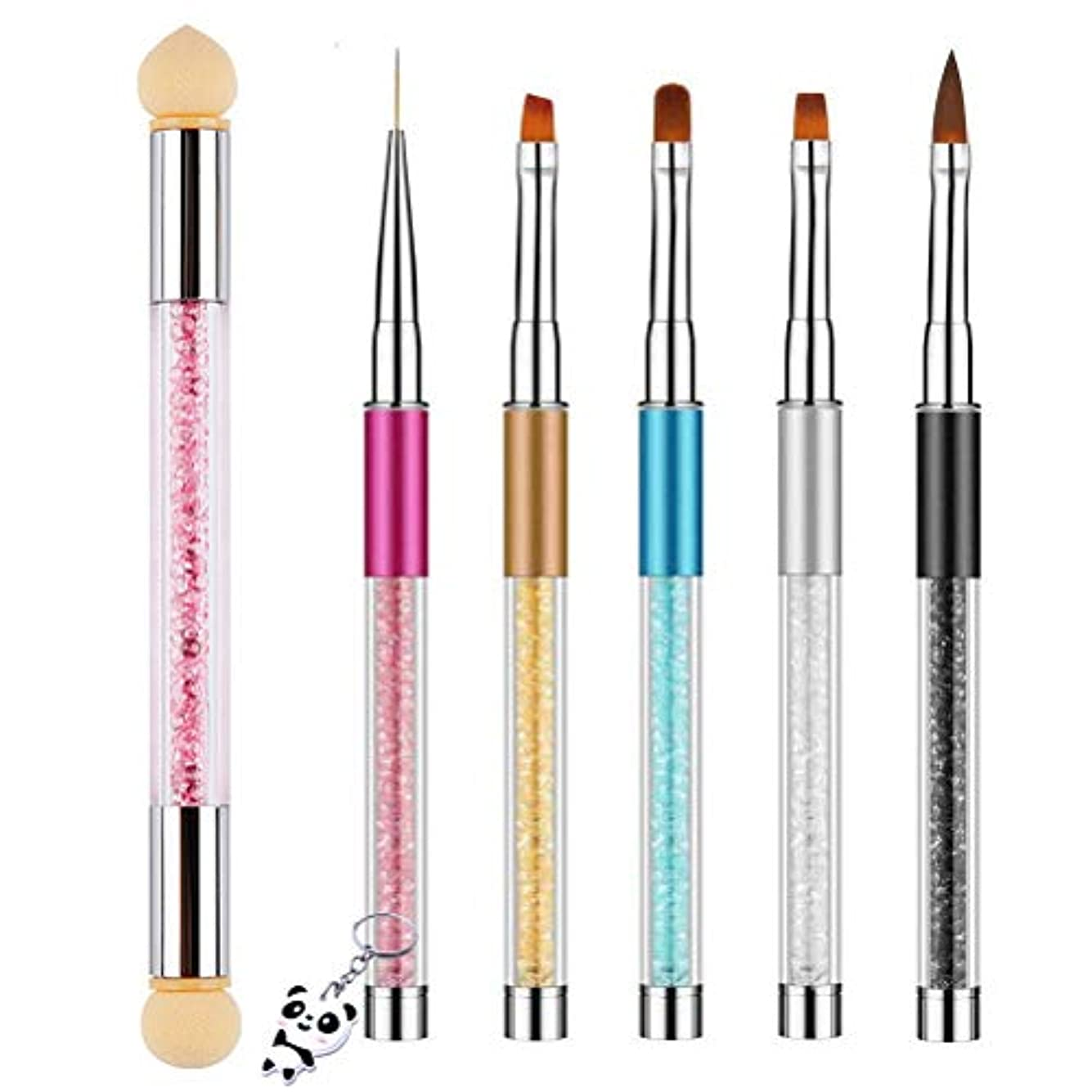心からスリッパ考慮Achy JP ネイルアートブラシ 6個セット ネールアートペン マニキュアツールキット UV用 ネイルツール ネイル用品