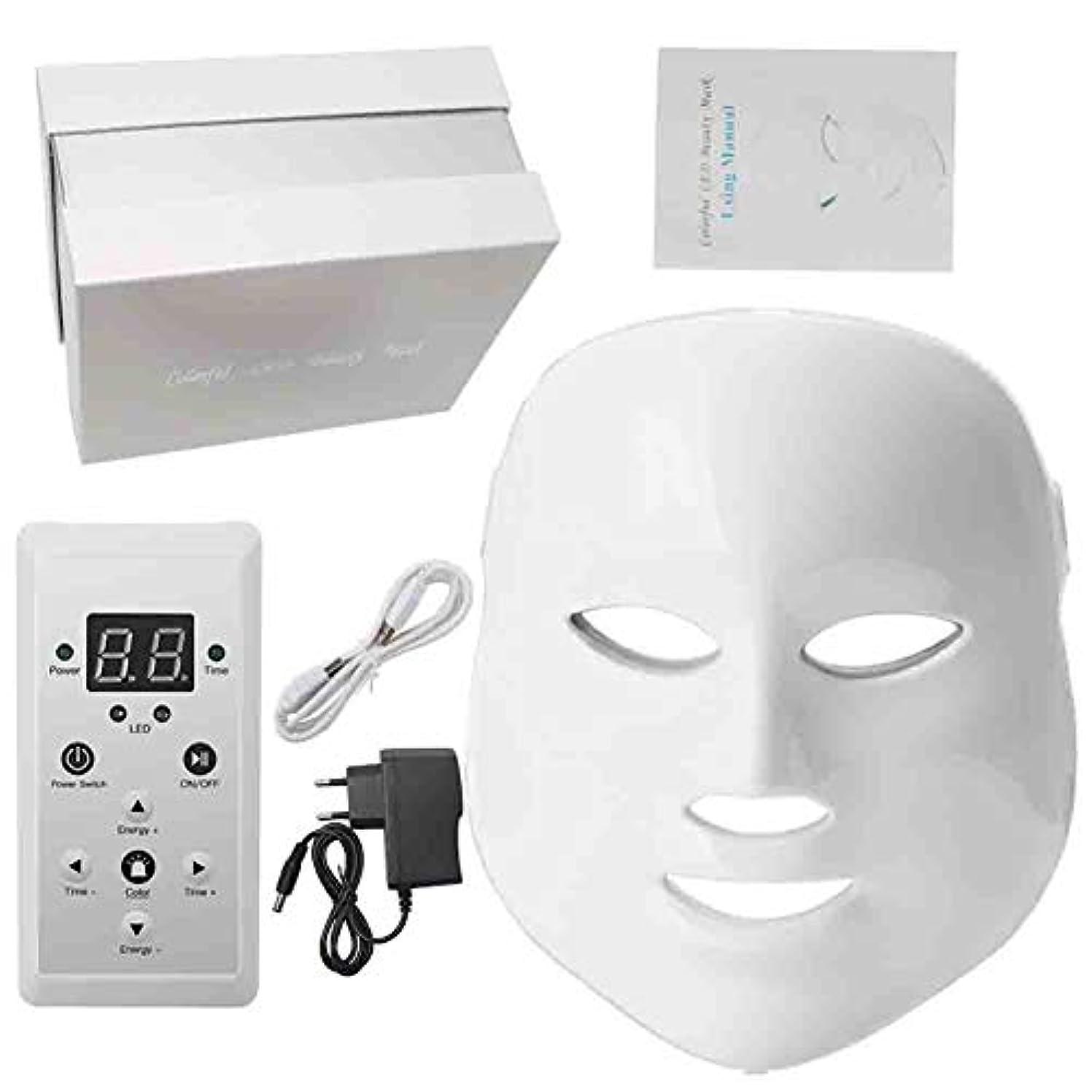 有限屈辱する封建ライトセラピーは、しわにきびの除去若返りフェイススキンケアのために7色のライトフェイシャル美容光線療法のLEDマスク