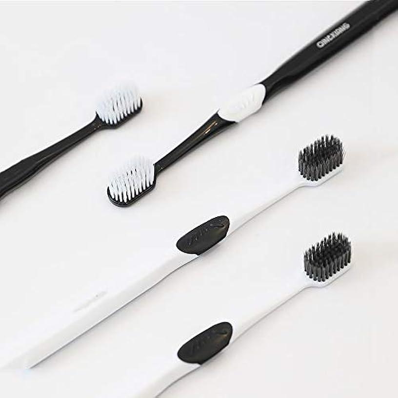 に賛成までモネ歯ブラシ 8本の歯ブラシ、歯茎のための新しい小さなブラシヘッド歯ブラシ、バルクアダルトソフト毛先歯ブラシ、ケア HL (サイズ : 8 packs)