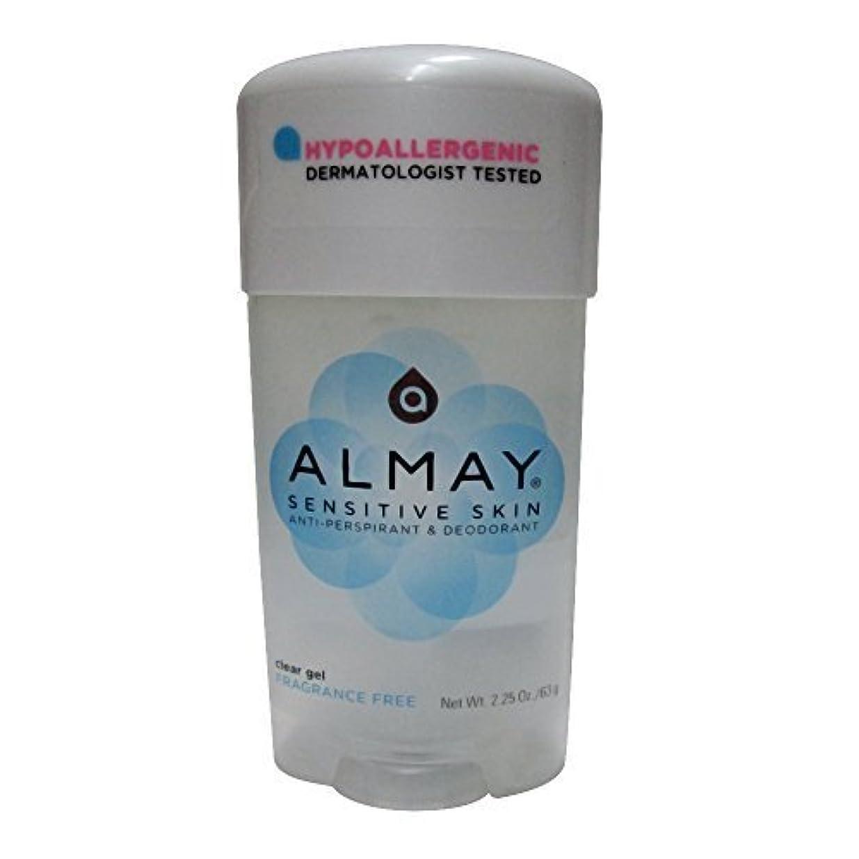 ロードされたに対処する定常Almay 敏感肌、クリアジェルフレグランスフリー - 2.25オンス、6パック