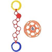 O'ball オーボール オーリンク (レッド) オーボールラトル (オレンジ) セット 外出 持ち運び (AM-10099) by Kids II