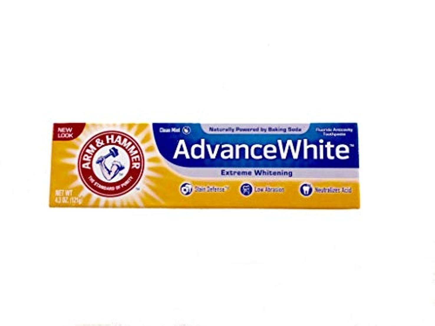トランク四国歌Arm & Hammer Advance White Fluoride Anti-Cavity Toothpaste with Baking Soda & Peroxide - 4.3 oz by Arm & Hammer...