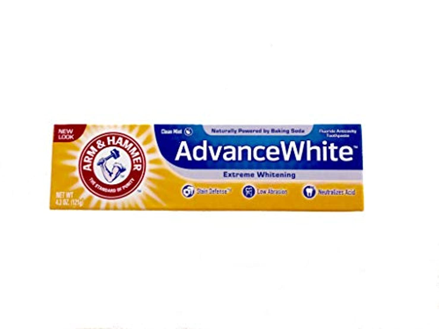 収束ドメインホステルArm & Hammer Advance White Fluoride Anti-Cavity Toothpaste with Baking Soda & Peroxide - 4.3 oz by Arm & Hammer...