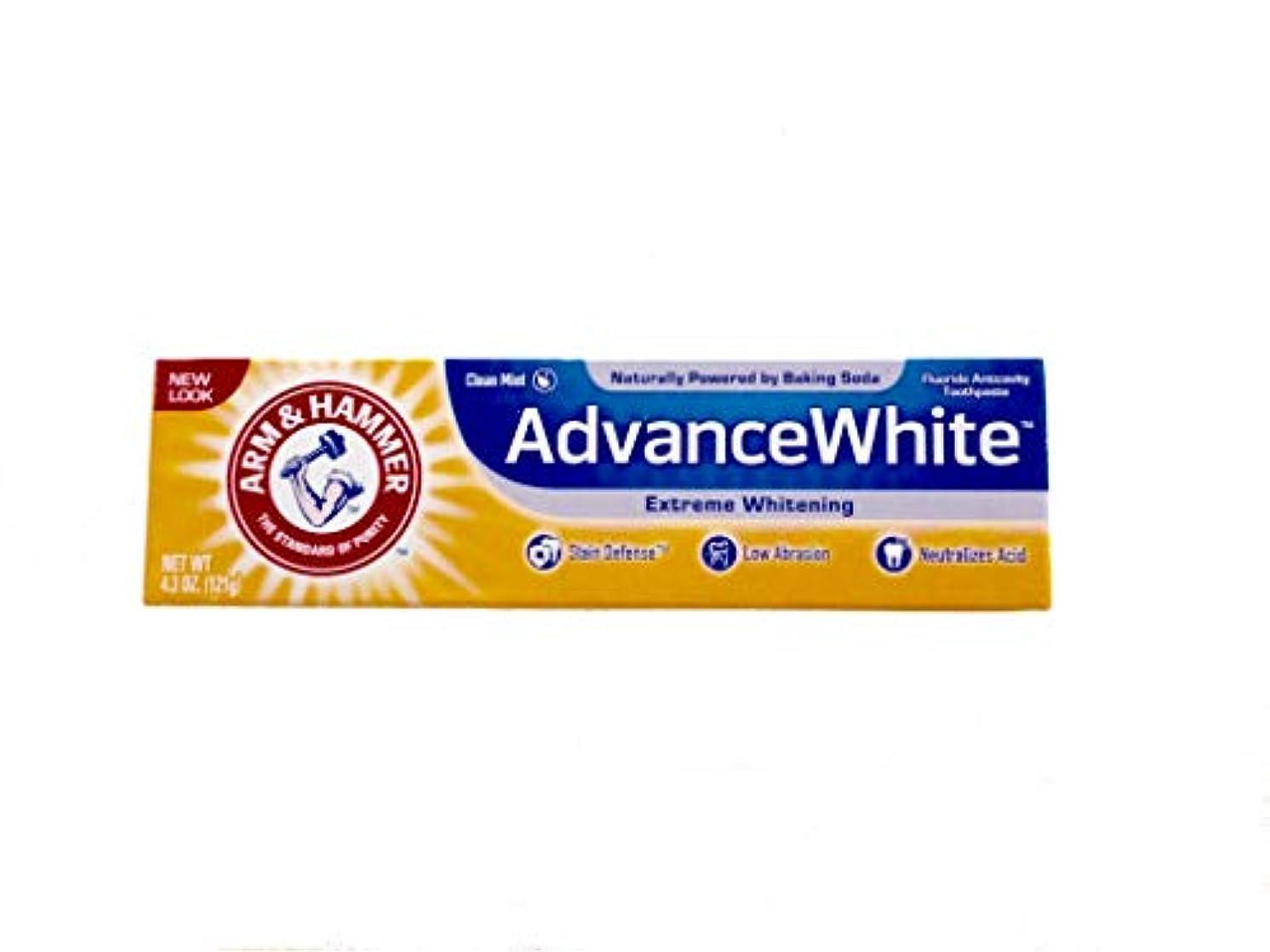 欠員初心者リア王Arm & Hammer Advance White Fluoride Anti-Cavity Toothpaste with Baking Soda & Peroxide - 4.3 oz by Arm & Hammer...