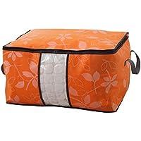 ポータブルストレージバッグソリッドカラー防水防湿オックスフォード布トラベルオーガナイザー羽毛布団キルト衣類移動仕上げ荷物袋 (色 : Orange)