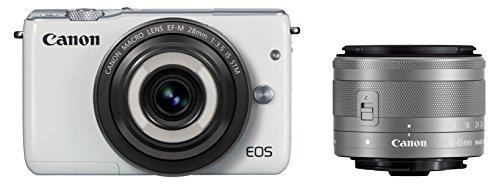 Canon ミラーレス一眼カメラ EOS M10(ホワイト)・クリエイティブマクロ ダブルレンズキット EF-M28mm F3.5 IS STM EF-M15-45mm F3.5-6.3 IS STM 付属 EOSM10WH-CMWLK