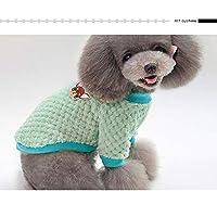 犬の服 ペットカジュアル通気性の2足フリース 小さな犬の暖かいコート ペット服
