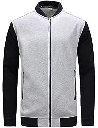 Fly Year-JP メンズファッションジャケット軽量フィットジャケットカジュアル摩耗野球ジャケット