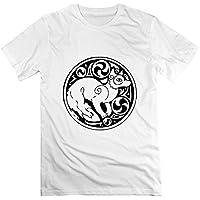 ヒカリ メンズ 半袖 狐 神社 神様 動物 オリジナル ティー Tシャツ