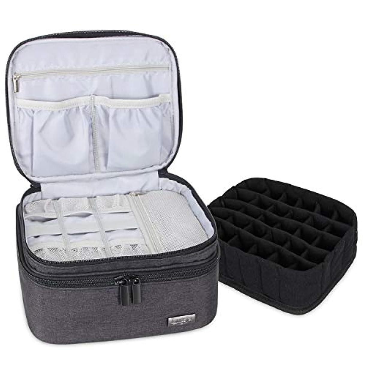 短くする商業のシアーLUXJA エッセンシャルオイル ポーチ 30本収納(5ml - 30ml) (二重層?黒)