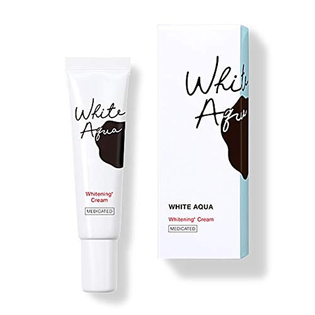 親指屋内で大臣ホワイトアクア WHITE AQUA 薬用スポッツ美白クリーム