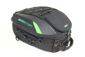 BAGSTER(バグスター) シートバッグ SPIDER(スパイダー) ブラック/グリーン 44x30x18cm 4899V