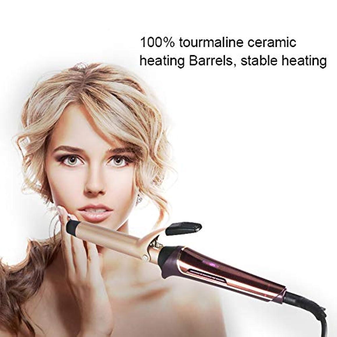 勉強する宿泊施設北米ヘアカーラー - 25mm コテ カール マイナスイオン 温度LCD表示 プロ仕様 80℃~210℃ ル用すべての髪