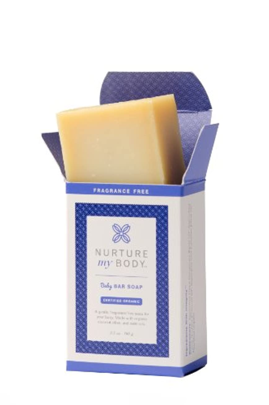 頬骨受ける思い出させるNurture My Body Organic Baby Bar Soap - 100% Organic and All Natural - Enriched with Coconut Oil & Olive Oil (...