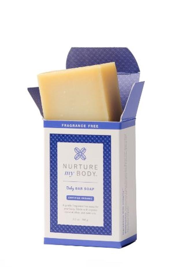 下る原子うまれたNurture My Body Organic Baby Bar Soap - 100% Organic and All Natural - Enriched with Coconut Oil & Olive Oil (...