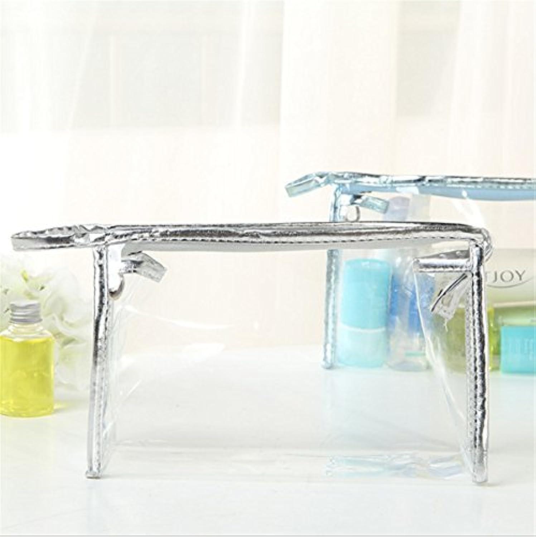 Honel 透明 ビニール バッグ スクエア 化粧 ポーチ 小物収納 透明洗面具トラベル防水収納ポーチ バッグ 収納ケース