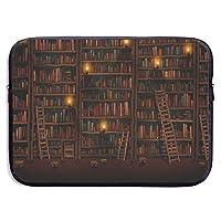 美しい図書館 PCケース ノートパソコンバッグ ラップトップ用 保護ケース 耐衝撃 撥水加工 軽量 ビジネスバッグ ハンドルバッグ ブリーフケース タブレット ケース スリーブ 13-15インチ