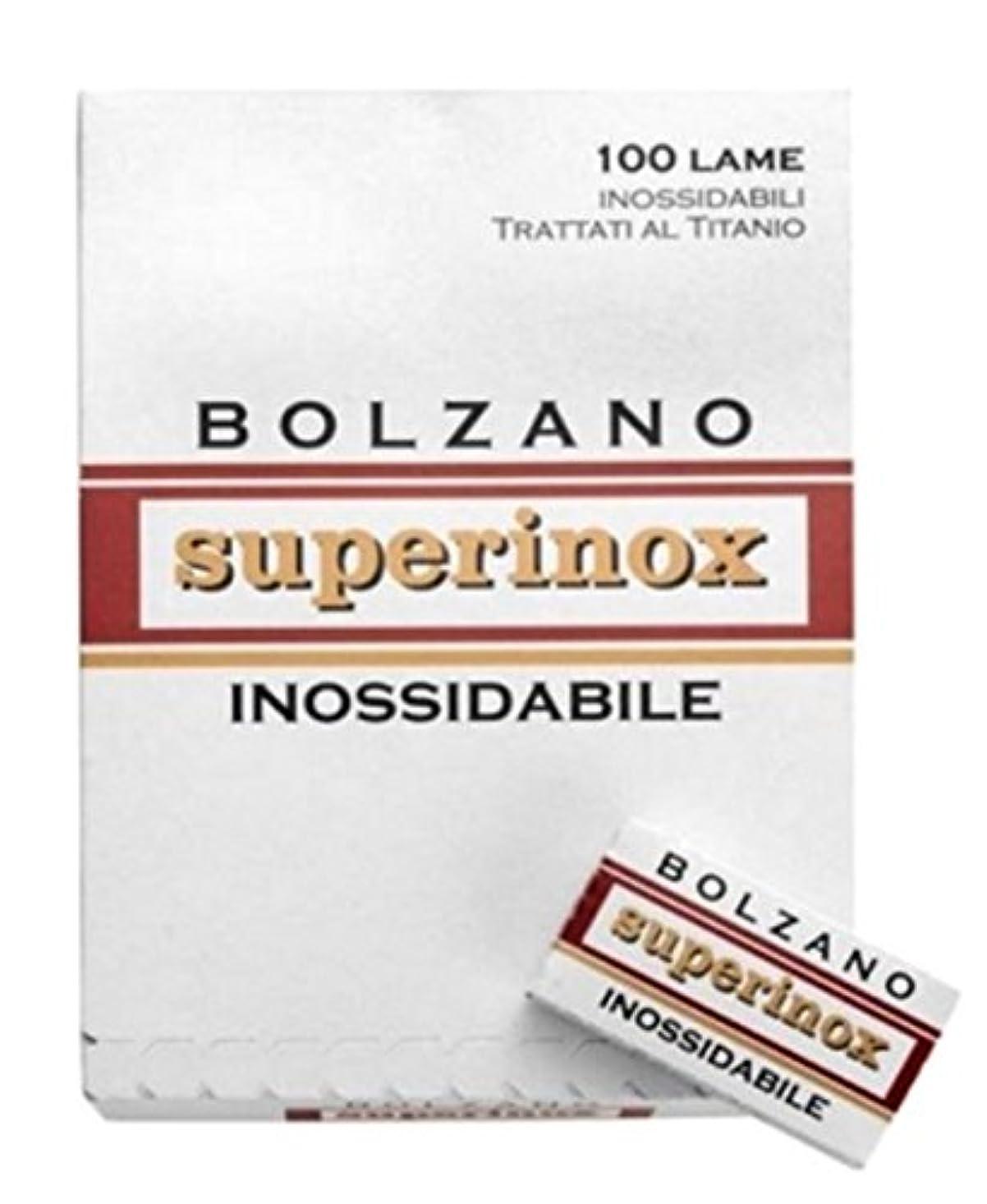 ファックス争う不道徳Bolzano Superinox Inossidabile 両刃替刃 100枚入り(5枚入り20 個セット)【並行輸入品】