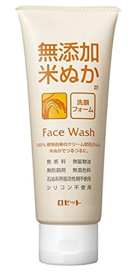 水族館廃止する放散するロゼット 無添加米ぬか 洗顔フォーム 140g
