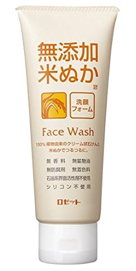 上記の頭と肩衝突する出版ロゼット 無添加米ぬか 洗顔フォーム 140g
