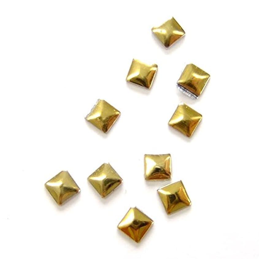クロスのスコア穏やかなミスティックフレース ネイル用ストーン メタルスタッズ スクエア 3mm ゴールド 50P