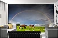 Lcsyp カスタム3D壁画、美しい風景写真野生草原、リビングルームのソファテレビ壁寝室の背景壁紙-400X280CM
