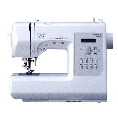 ジャガー コンピューターミシン FJ-3800 文字縫いやフットコントローラーも付いて初心者にも安心